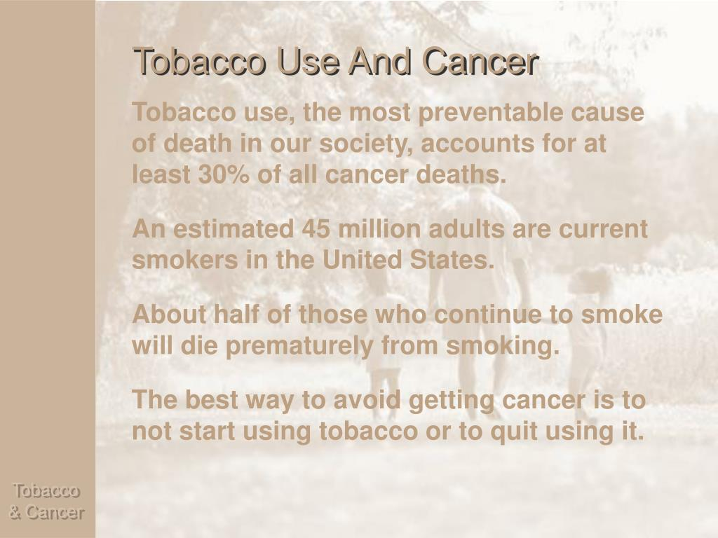 Tobacco Use And Cancer