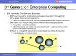 3 rd generation enterprise computing