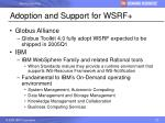 adoption and support for wsrf