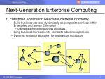 next generation enterprise computing