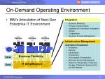 on demand operating environment