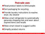 post sale uses
