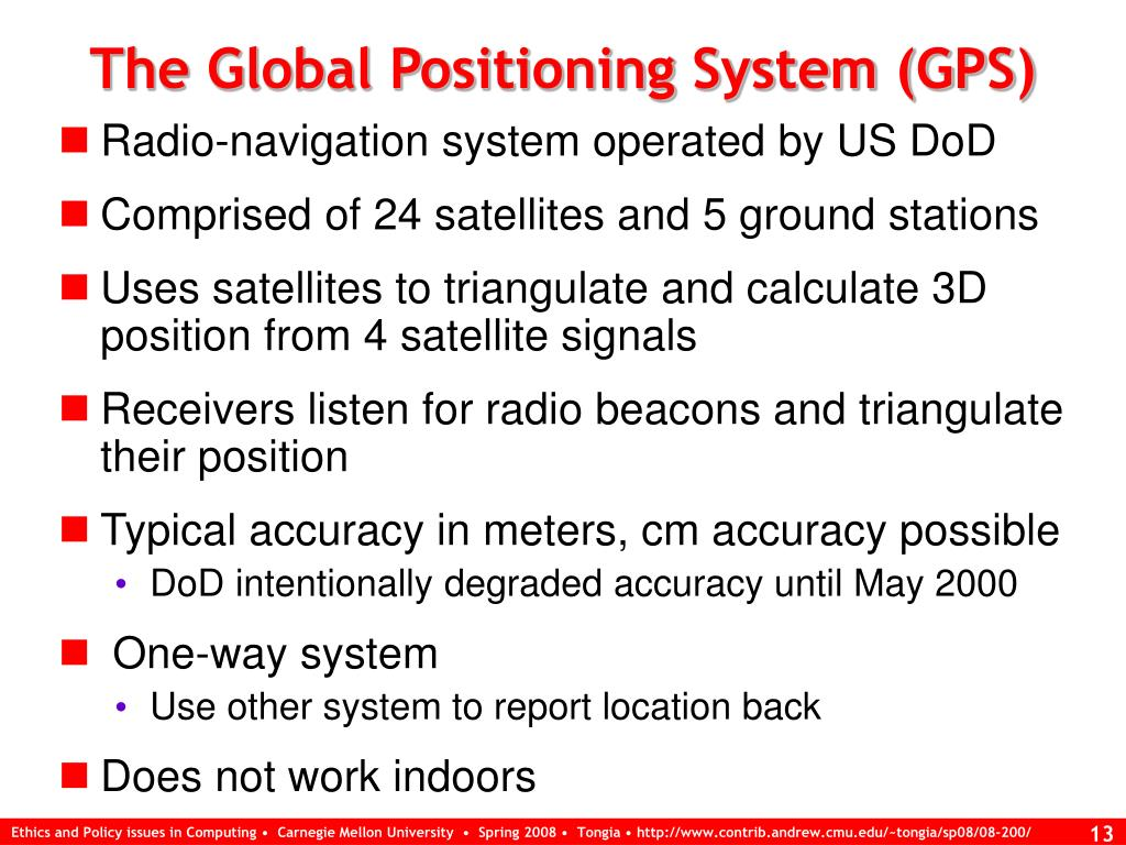 The Global Positioning System (GPS)