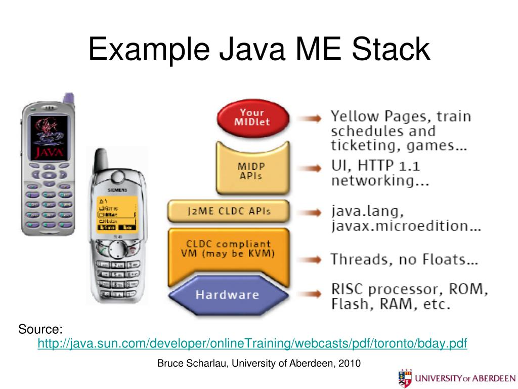 Example Java ME Stack