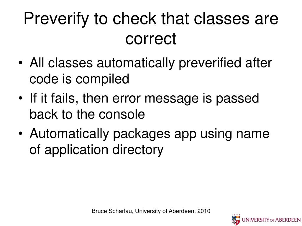Preverify to check that classes are correct