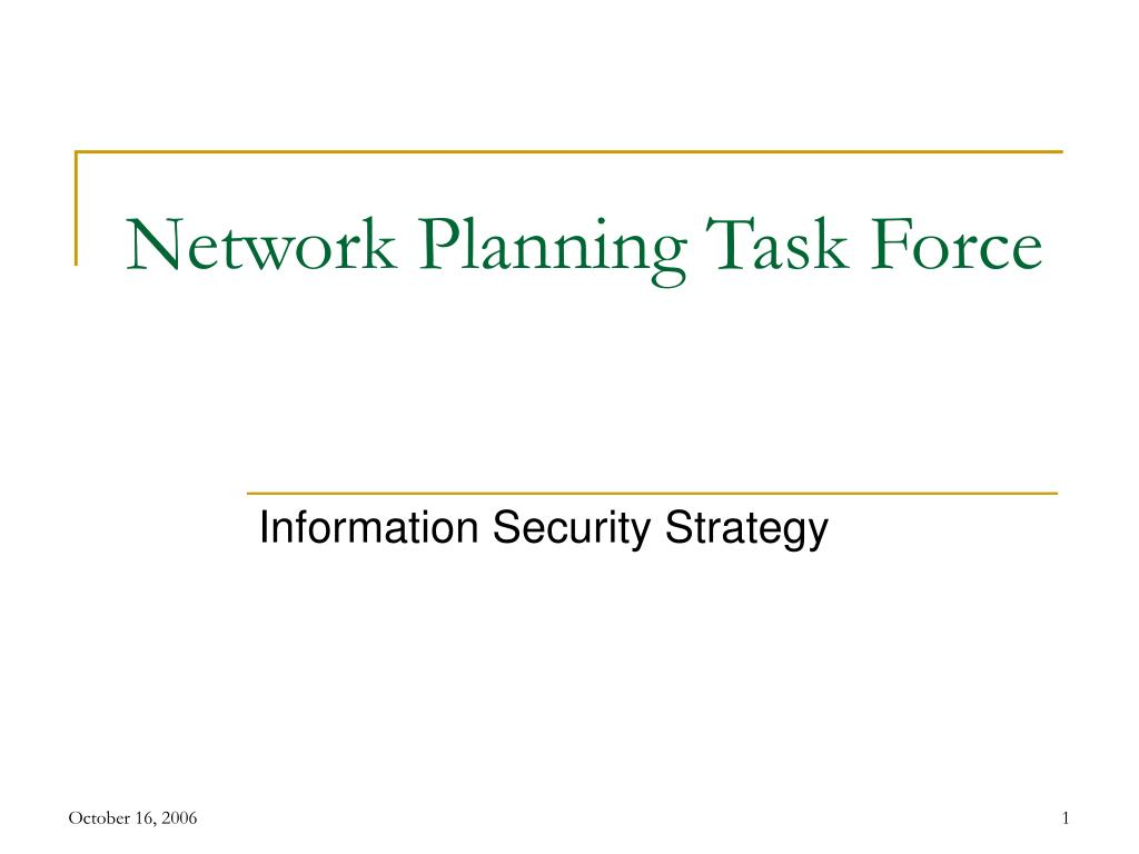 network planning task force l.