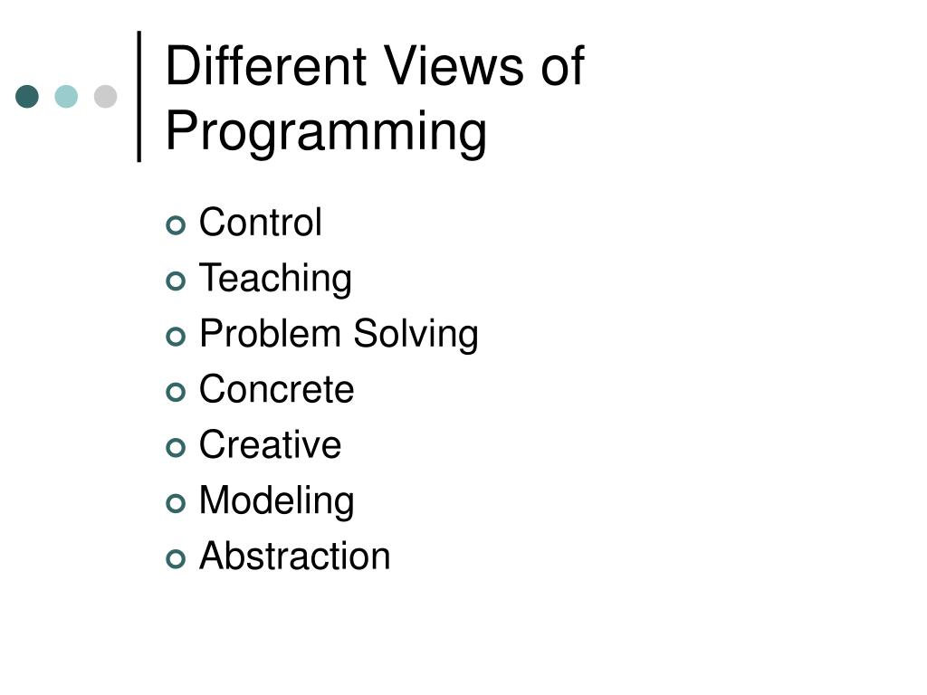 Different Views of Programming