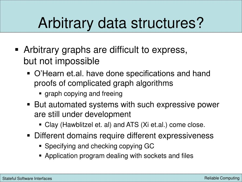 Arbitrary data structures?
