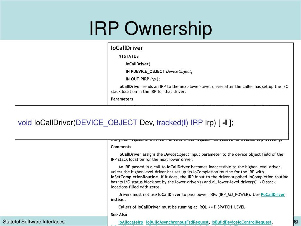 IRP Ownership