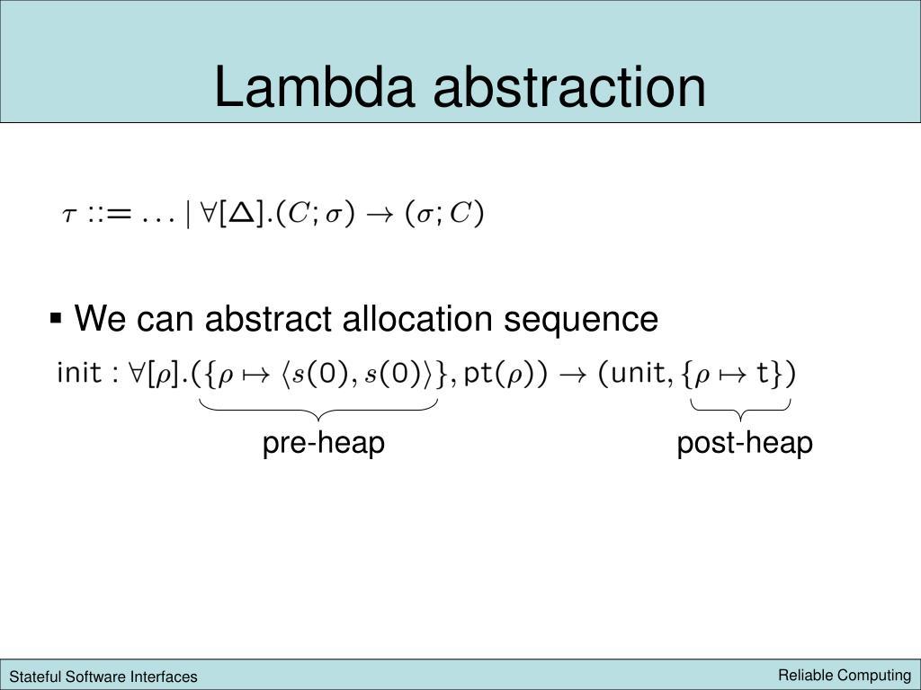 Lambda abstraction