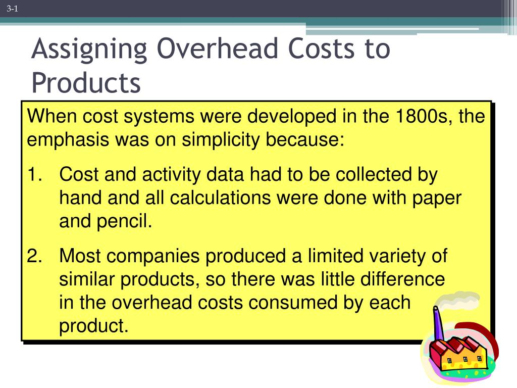 assigning overhead costs to products l.