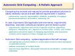 autonomic grid computing a holistic approach