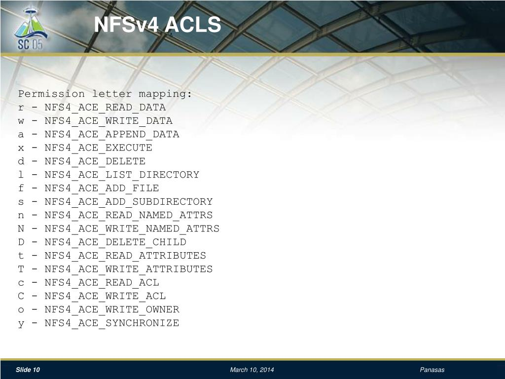 NFSv4 ACLS