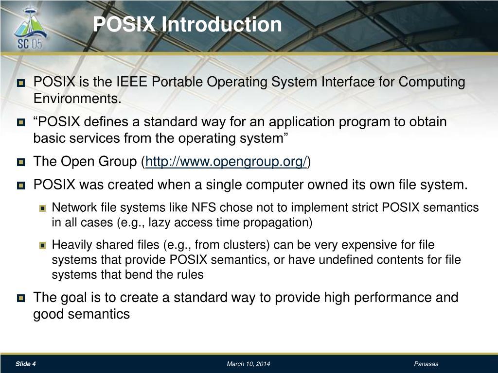 POSIX Introduction