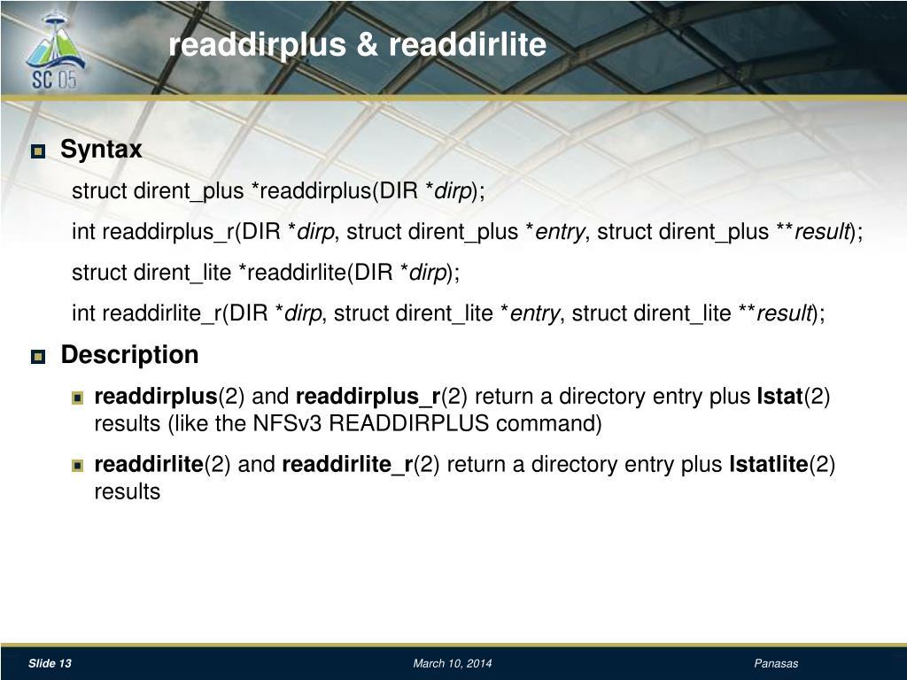 readdirplus & readdirlite