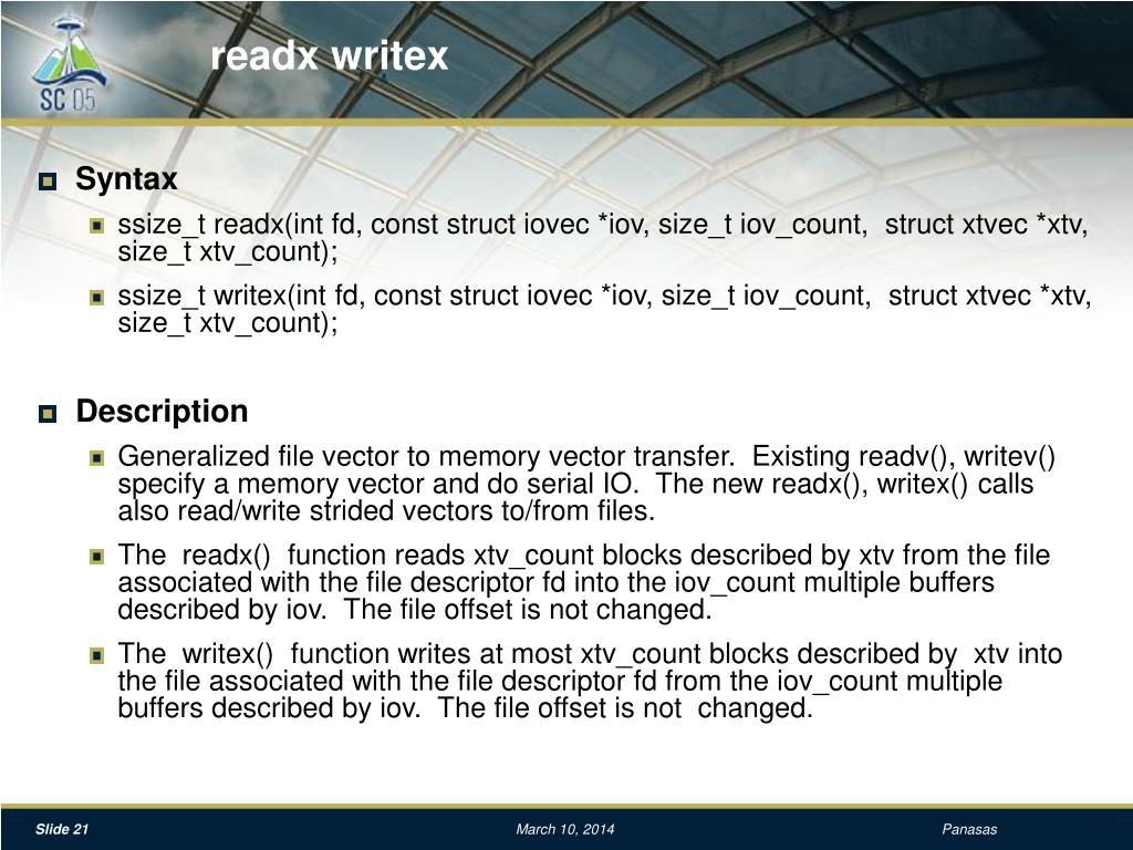 readx writex