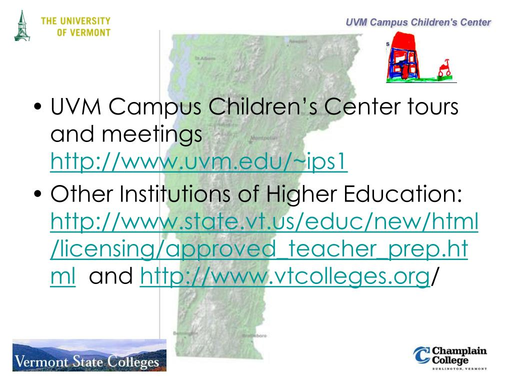 UVM Campus Children's Center tours and meetings