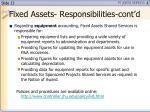 fixed assets responsibilities cont d