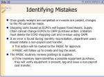 identifying mistakes