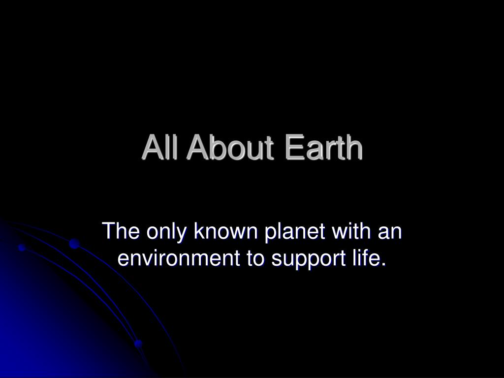 all about earth l.