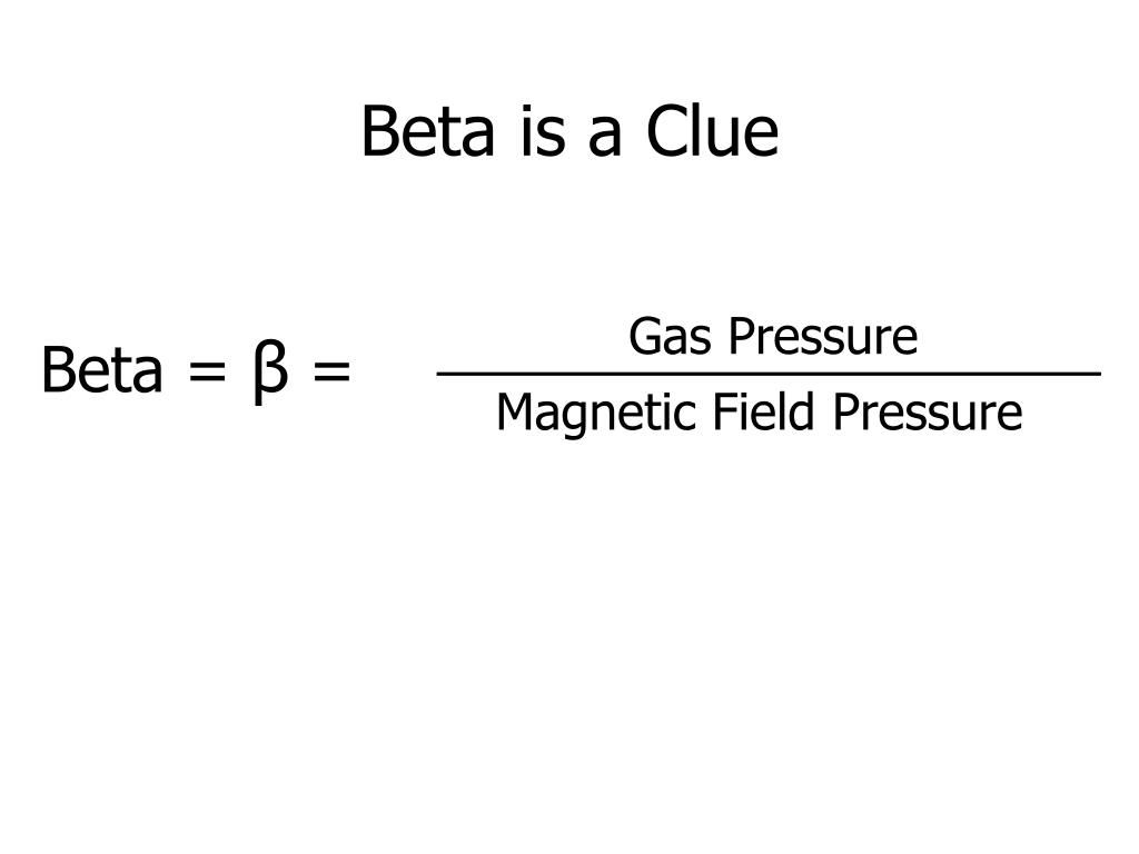 Beta is a Clue