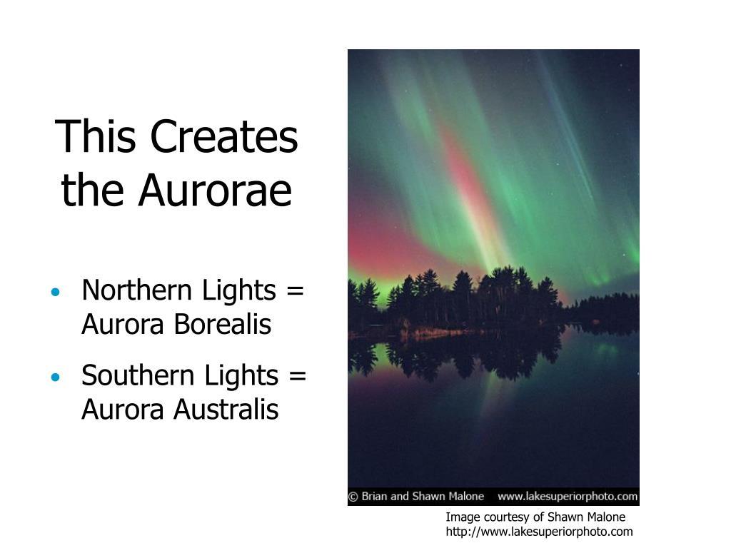 This Creates the Aurorae