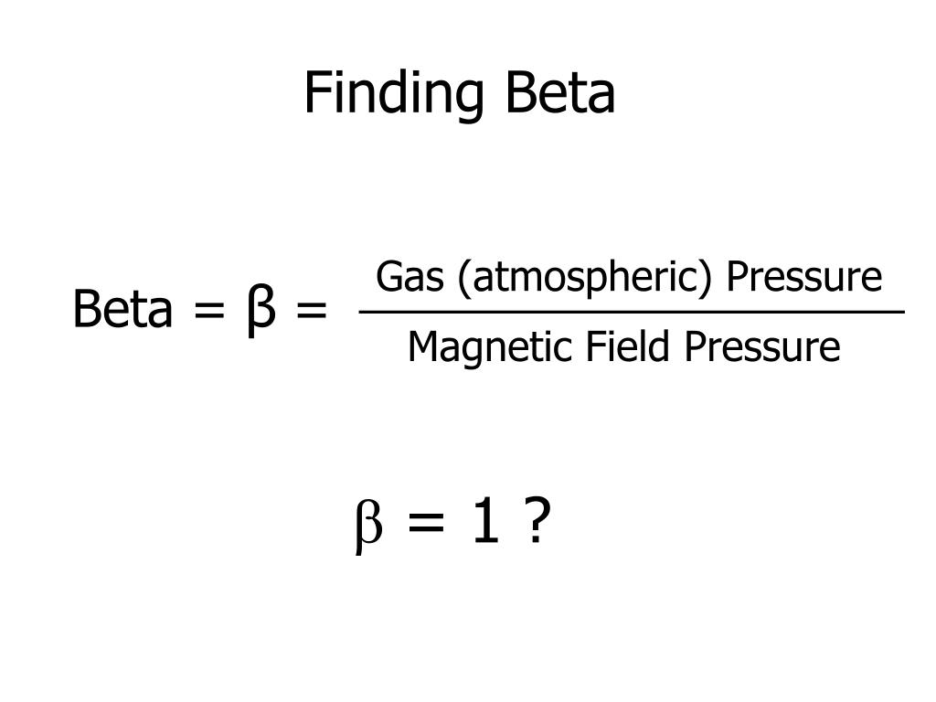 Finding Beta