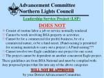 advancement committee northern lights council20