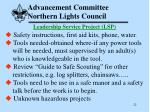 advancement committee northern lights council22