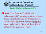 advancement committee northern lights council28