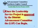 advancement committee northern lights council29