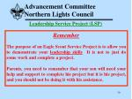 advancement committee northern lights council30