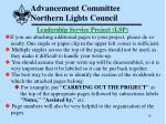advancement committee northern lights council38