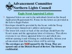 advancement committee northern lights council47
