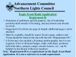 advancement committee northern lights council52