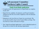 advancement committee northern lights council54
