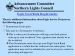 advancement committee northern lights council59