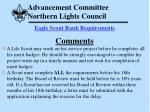 advancement committee northern lights council61