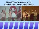 round table discussion of the life to eagle process final results
