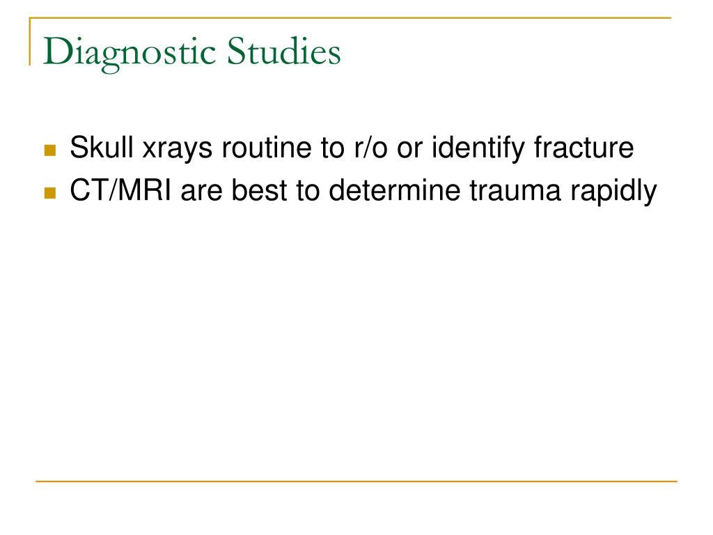 Diagnostic Studies