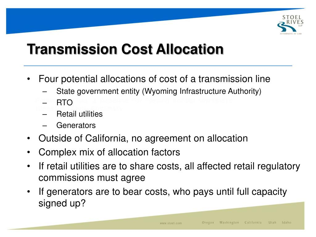 Transmission Cost Allocation