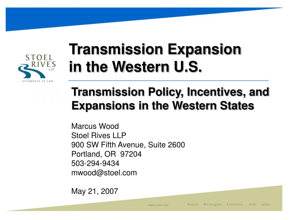 transmission expansion in the western u s l.
