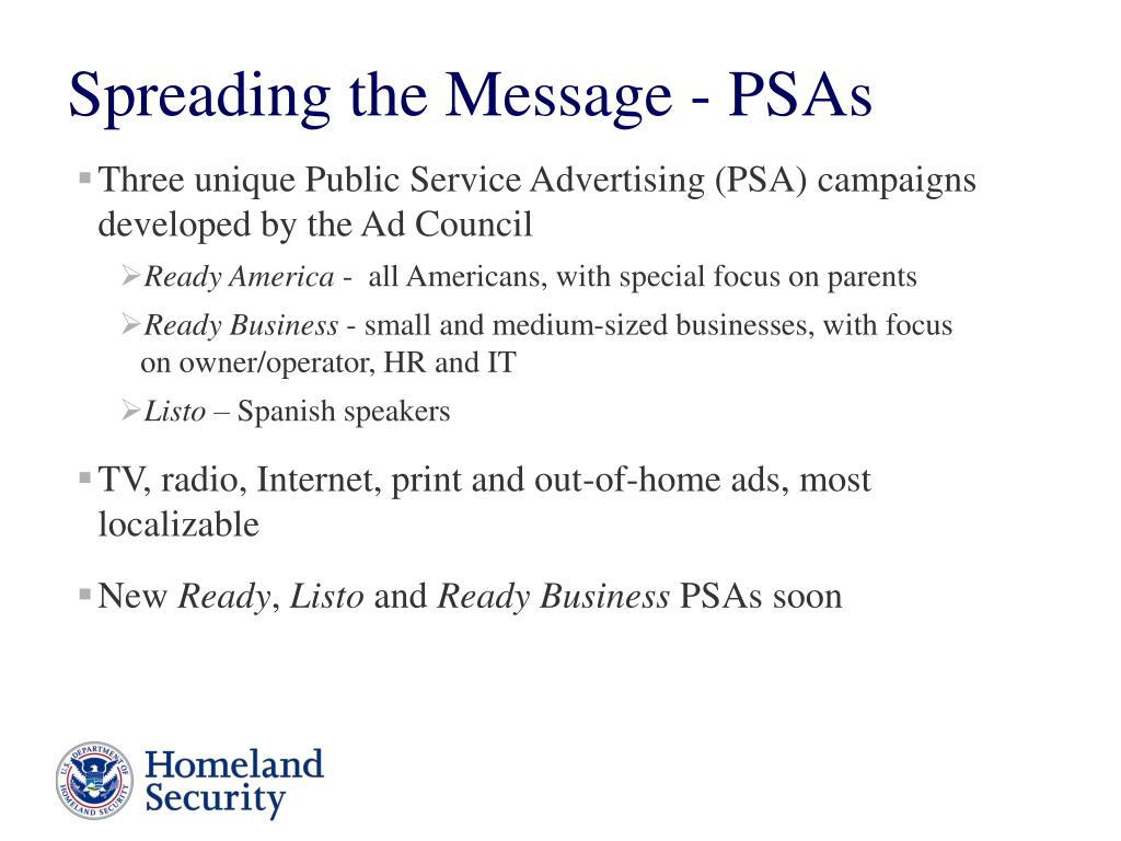 Three unique Public Service Advertising (PSA) campaigns developed by the Ad Council