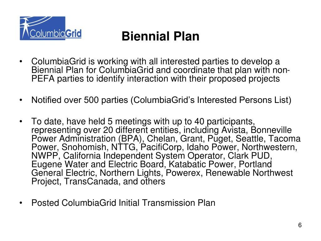 Biennial Plan