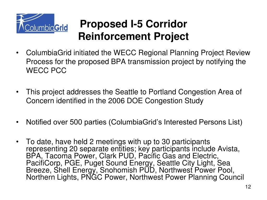 Proposed I-5 Corridor