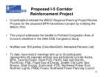 proposed i 5 corridor reinforcement project