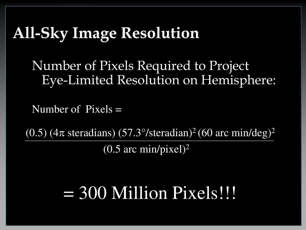All-Sky Image Resolution