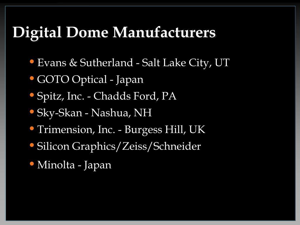 Digital Dome Manufacturers