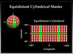 equidistant cylindrical master