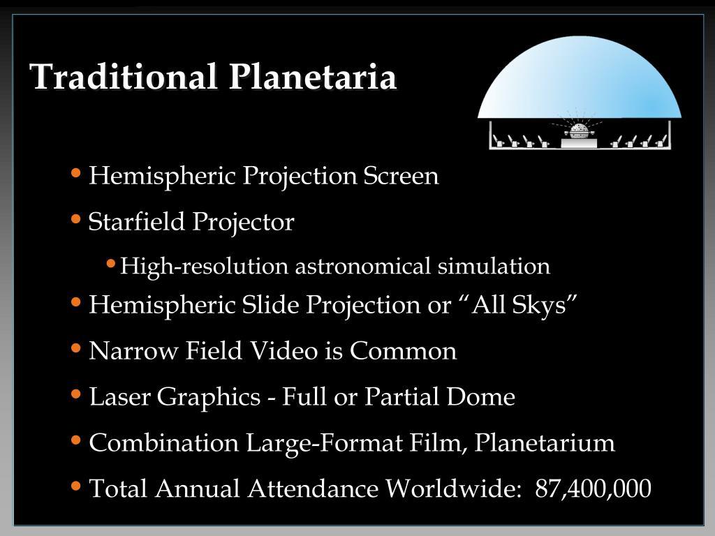 Traditional Planetaria